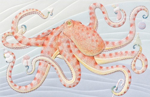 Christmas Party on the Arms of the Octopus 16 Boxed Holiday Cards and Envelopes