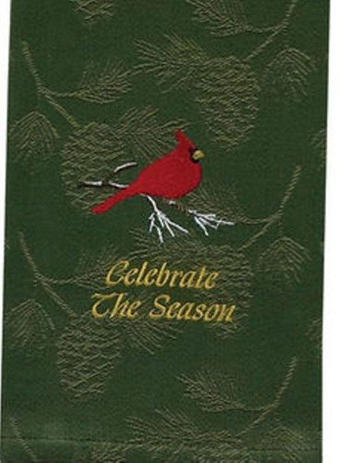 Celebrate the Season Cardinal Green Pine Holiday Kitchen Dish Towel Park Designs