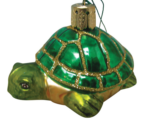 Beachcombers Glass Nautical Ocean Sea Turtle Christmas Ornament