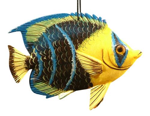 Caribbean Reef  Tiki Tropical Angel Fish Ornament TFO41