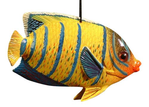 Carribean Reef Tiki Bar Tropical Fish Christmas Ornament 4 Inch ORN36