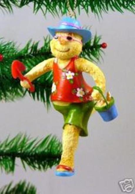 Snowman Carrying Shovel and Pail Coastal Christmas Holiday Ornament