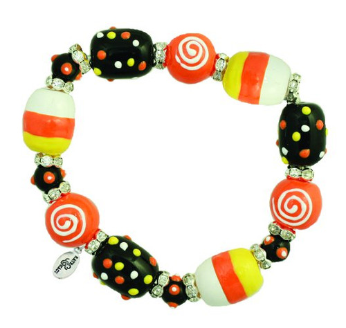 Trick R Treat Candy Corn Halloween Kate and Macy Stretch Bracelet