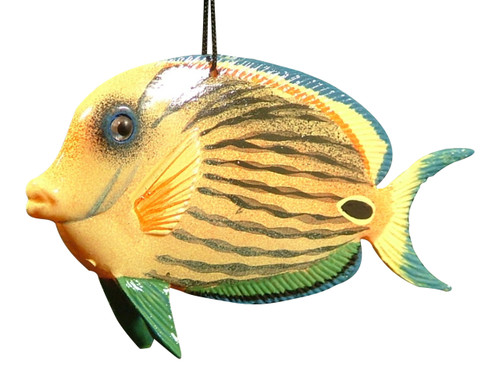 Carribean Sea Tiki Hanging 3-D Tropical Tiki Fish 4 inch ORN15