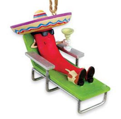 Chiliman Jalapeno Pepper On Lounge Chair Christmas Holiday Ornament