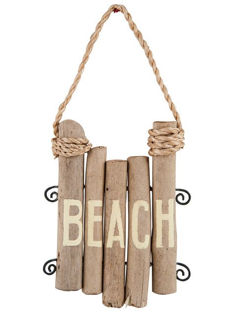 Beach Pilings Christmas Holiday Christmas Holiday Ornament Wood Metal 5 Inches