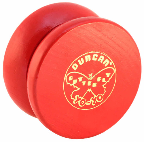 Duncan Wooden Butterfly Yoyo Red