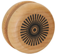 Classic Wooden Yoyo with Radial Design