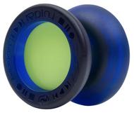 Dark Blue with Neon Green Caps