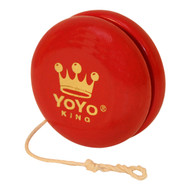 Yoyo King Personalized Custom Wooden Yoyo Red