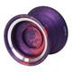 Magic Carpfin yoyo Purple with red splash