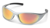 Pyramex® Zone II Nylon Frame Safety Glasses Ice Orange Mirror Lens  ## SS3345E ##