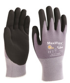 ATG® G-tek Maxiflex Nitrile Micro-foam Palm Coated Nylon Knit Gloves  ## 34-874 ##