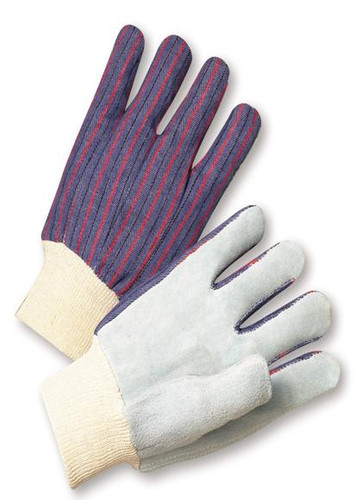 Cowhide Palm Work Gloves with Knit Wrist  ## 510 ##