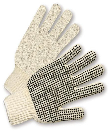 PVC Palm Dot String Knit Gloves  ## PD100 ##