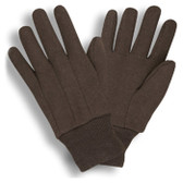Standard Weight Brown Jersey Gloves  ## 345 ##