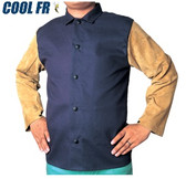 COOL FR Jacket with Side Split Cowhide Sleeves - Fire Resistant  ## 33-8060 ##