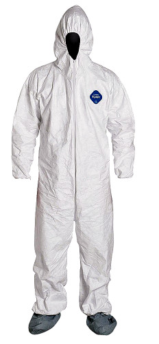 Tyvek® White Coverall w/ Hood & Boots ##14261 ##