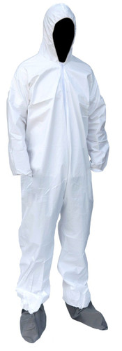 Sunrise® Suntech Hooded Elastic Coverall with Boots - Case of 25 ## SMP261 ##