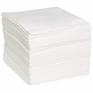 "15"" X 19"" Oil-Only Meltblown (White) Sorbent Pads - 100 Pads  ## WP100M ##"