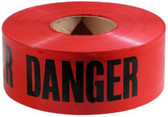 "Red ""Danger"" Barricade Tape - 2mil - 3"" x 1000ft.  ## DT100 ##"