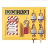 NORTH® Lockout 4 Person Station ##LSE104F ##