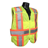 Hi-Vis Yellow Two-tone Class 2, Five-Point Breakaway Safety Vests - Vest 21  ## VEST 21 ##