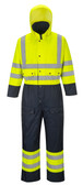 Hi-Vis Lined Coverall - Hi-Vis Yellow ## S485Y ##