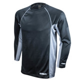 DEWALT Non-Rated Two Tone Performance Long-Sleeved Black T-Shirt  ## DST21-NPBB ##