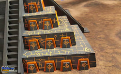 Tabletop Pyramid of the Orange Trident King