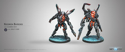 Infinity Xeodron Batroids - Combined Army