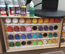 TabletopGamer Paint Rack - 36 Dropper Bottles