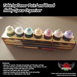 TabletopGamer Paint and Brush Hobby Space Organizer
