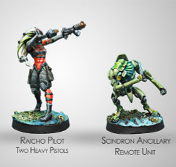 Infinity Raicho Pilot and Scindron Ancillary TAG Pilot Set - Combined Army
