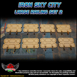 Iron Sky City Large Railing Set B