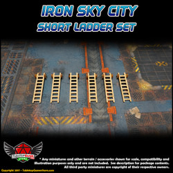 Iron Sky City Short Ladders Set