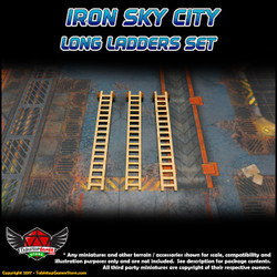 Iron Sky City Long Ladders Set