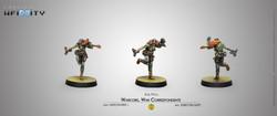 Infinity Warcors, War Correspondents (Stun Pistol) - Mercenaries