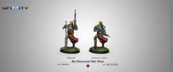 Infinity 3rd Highlander Grey Rifles (HMG) - Ariadna