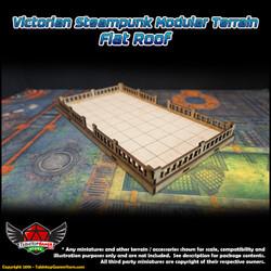 Victorian Steampunk Modular Terrain - Flat Roof