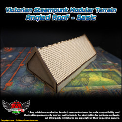 Victorian Steampunk Modular Terrain - Angled Roof - Basic