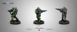 Infinity Blister Pack Veteran Kazaks (AP/HMG) - Ariadna