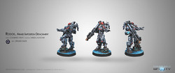Infinity Rodok - Armed Imposition Detachment (Missile Launcher) - Combined Army