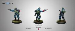 Infinity Chasseurs - Rifle / Flamethrower - Ariadna