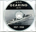 USS Gearing DD 710 1957 - 1958 CRUISE BOOK CD US Navy