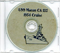 USS Macon CA 132 CRUISE BOOK Log 1954 CD Navy