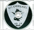 USS Everglades AD 24 MED CRUISE BOOK Log 1957 CD