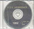USS Adirondack AGC 15 CRUISE BOOK Log 1952 CD