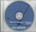 USS Arcadia AD 23 1955 Med Cruise Book on CD RARE