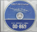 USS Arnold J Isbell DD 869 CRUISE BOOK CD 1957 1958